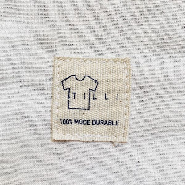 Etiquette Tilli 100% mode durable