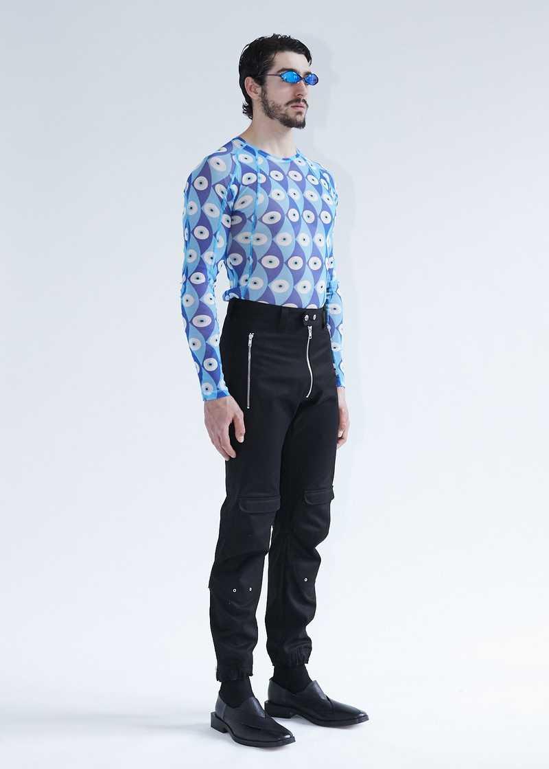Yolanda biker trousers black for men and women. GmbH SS20 collection.