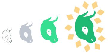 A set of Mylo logos growing.