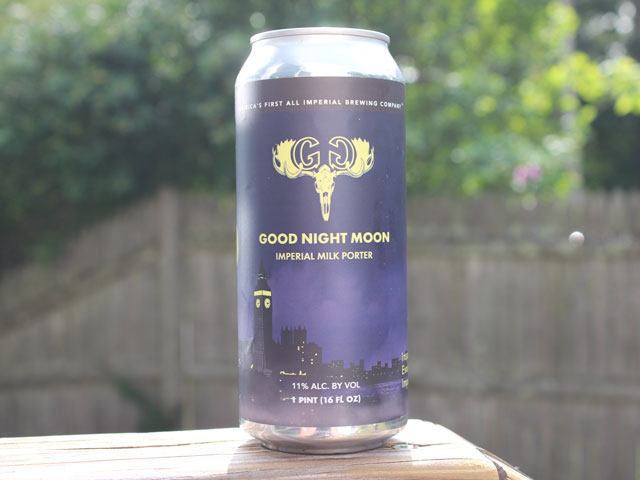 Good Night Moon, an Imperial Milk Porter brewed by Greater Good Imperial Brewing Company