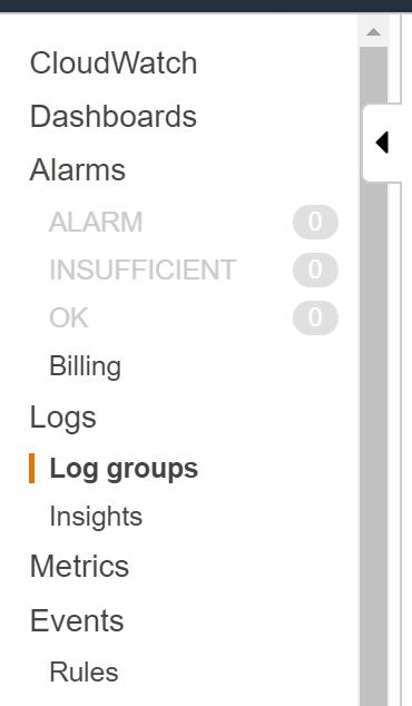 AWS CloudWatch logs