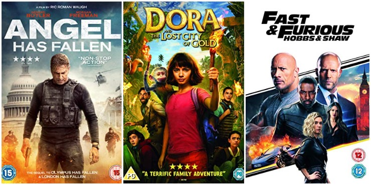 Angel Has Fallen, Dora and the Lost City of Gold, Fast & Furious: Hobbs & Shaw