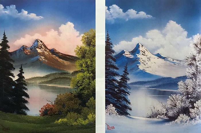 Two Seasons workshop preview painting