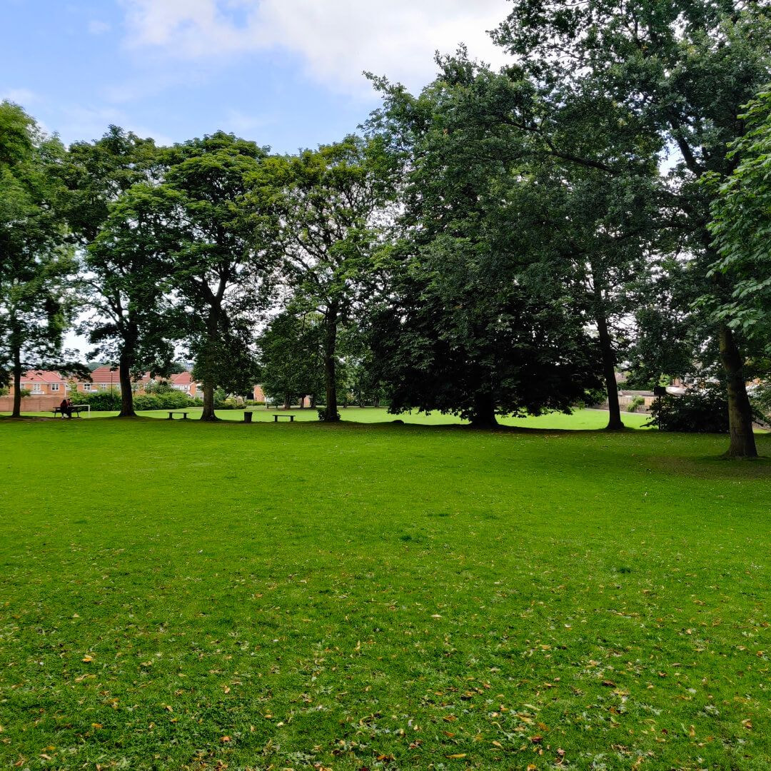 Westroyd Park football pitch and benches