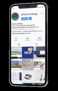 phone Instagram feed