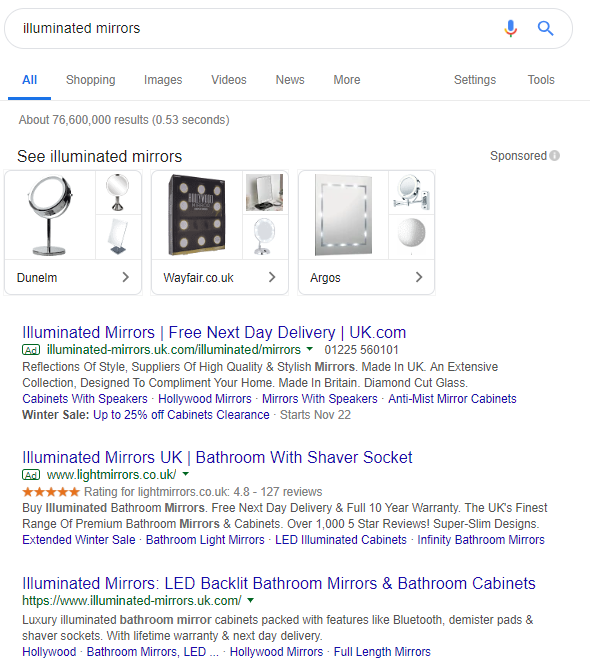 bidding to non brand keywords similar to your brand name