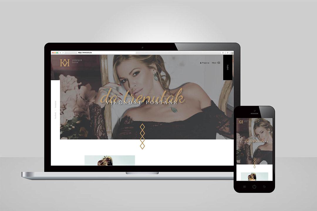 Project Keka - Prstenje & Burme, Website Design, Programming