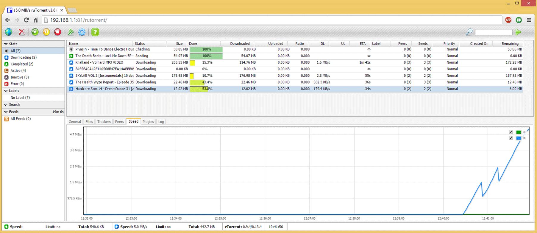 Rtorrent Screenshot