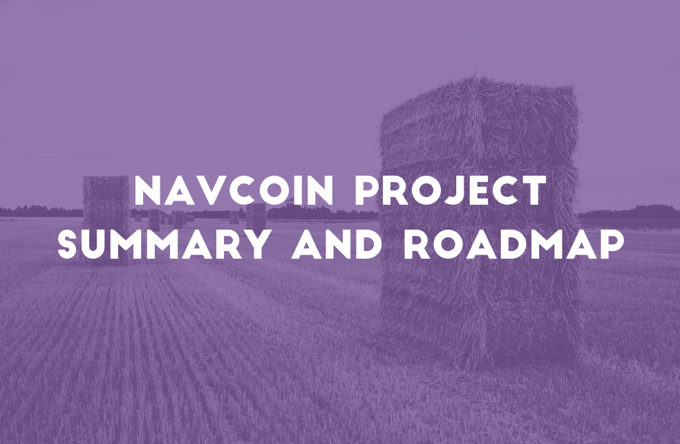 NavCoin Project Summary & Roadmap
