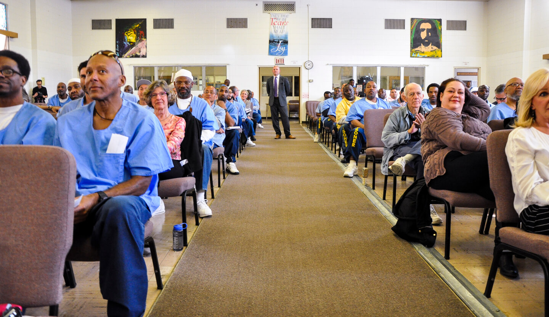 San Quentin warden surveys the scen