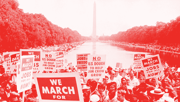 From the 1963 March on Washington for Jobs and Freedom.