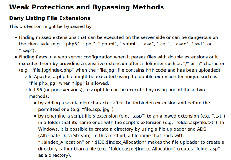 OWASP file_extension_deny_listing_bypass