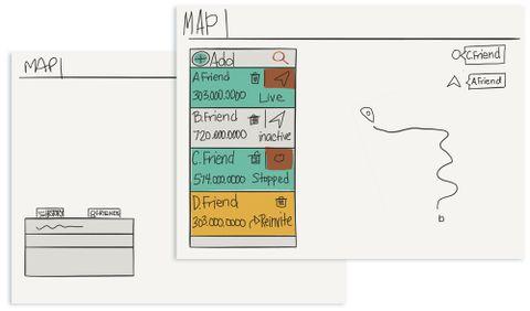 QuarqNet sketches on Paper