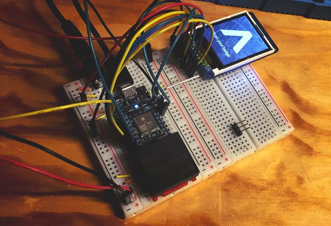 Our Arduino testing setup
