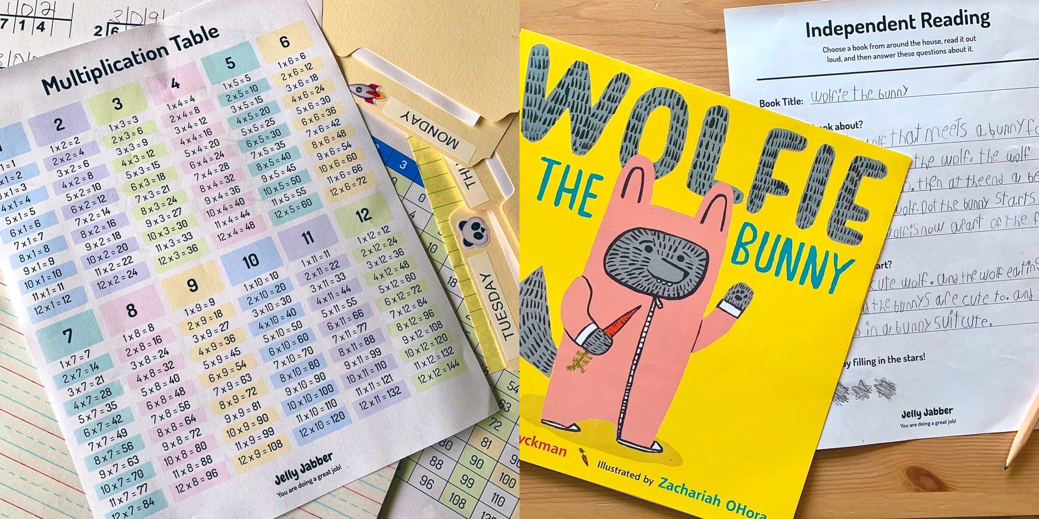 Worksheets and book