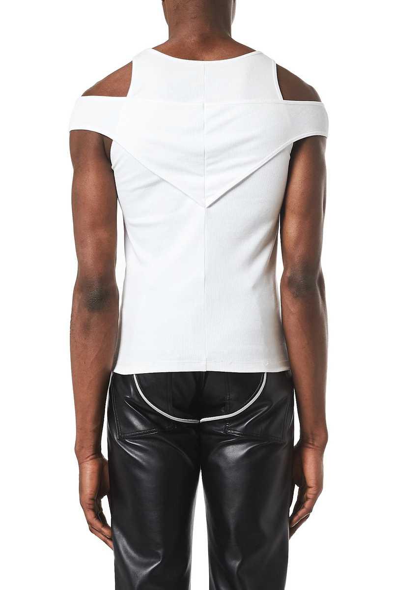 Deron tank top white aw21 menswear back view
