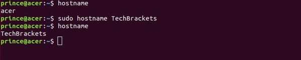 change hostname command example