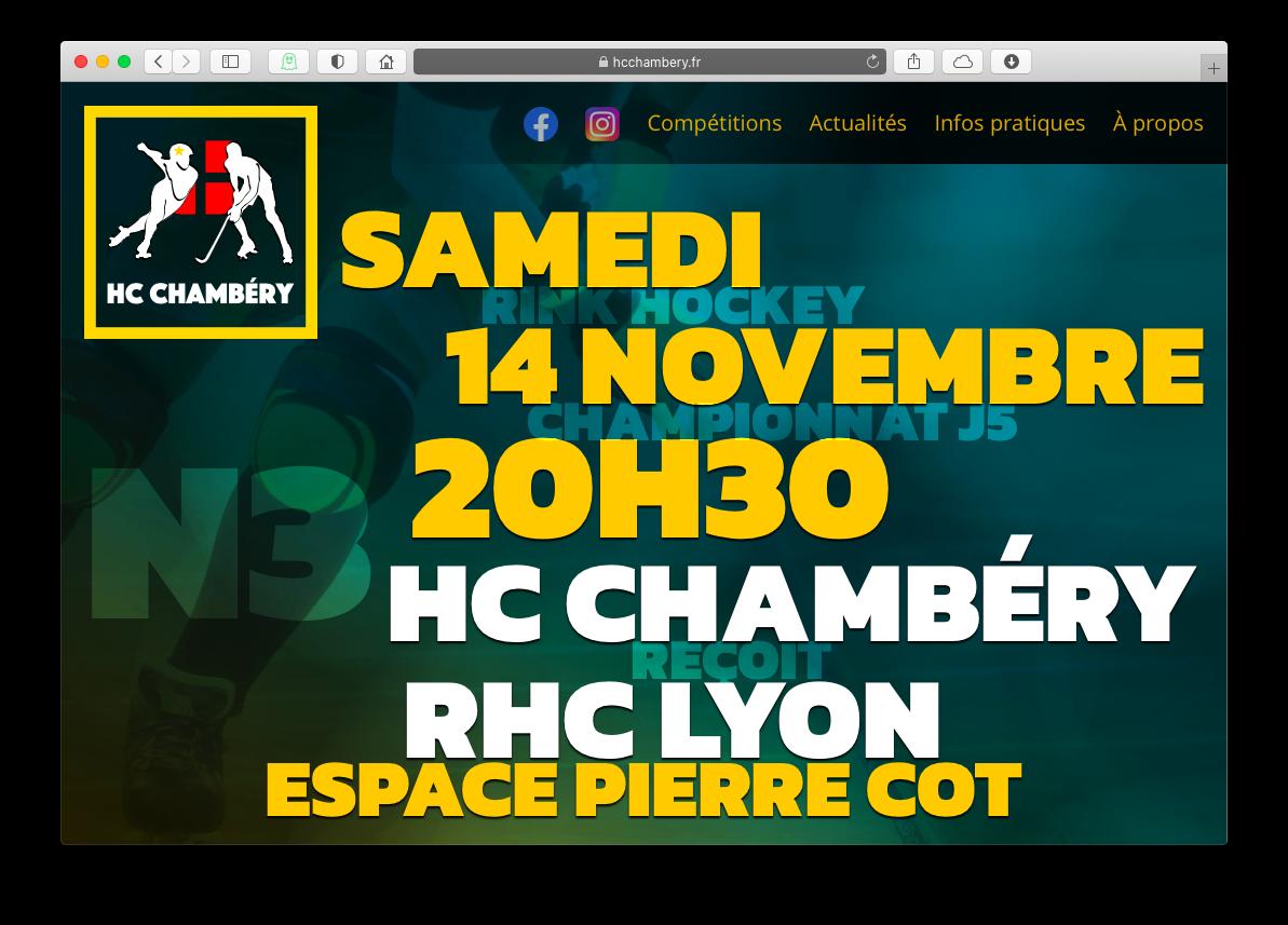 Capture d'écran du site Web du HCC