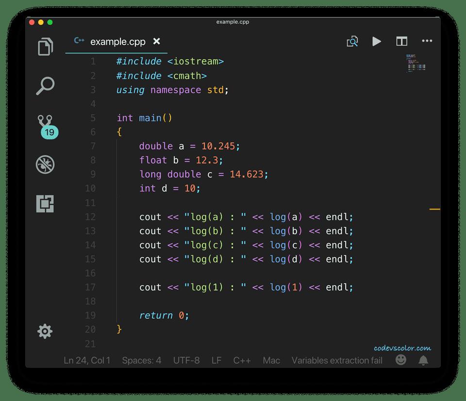 C++ log function