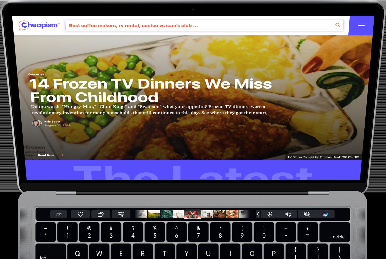 Screenshot of Cheapism webapp user dashboard