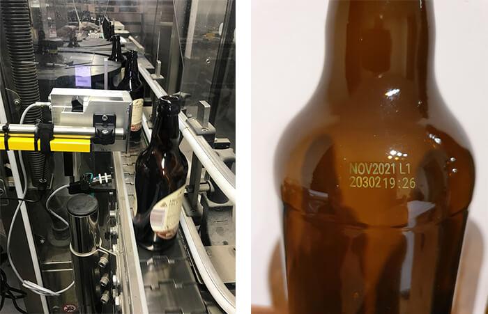 Print on beer bottle