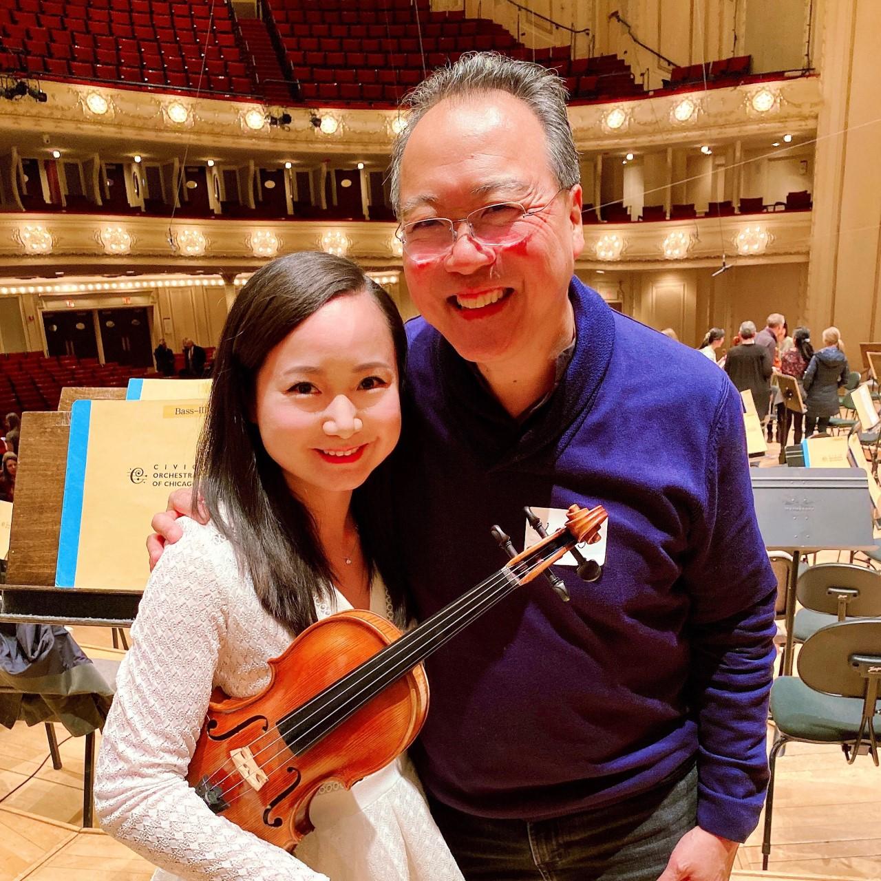 Performing with Yo-Yo Ma at Symphony Center