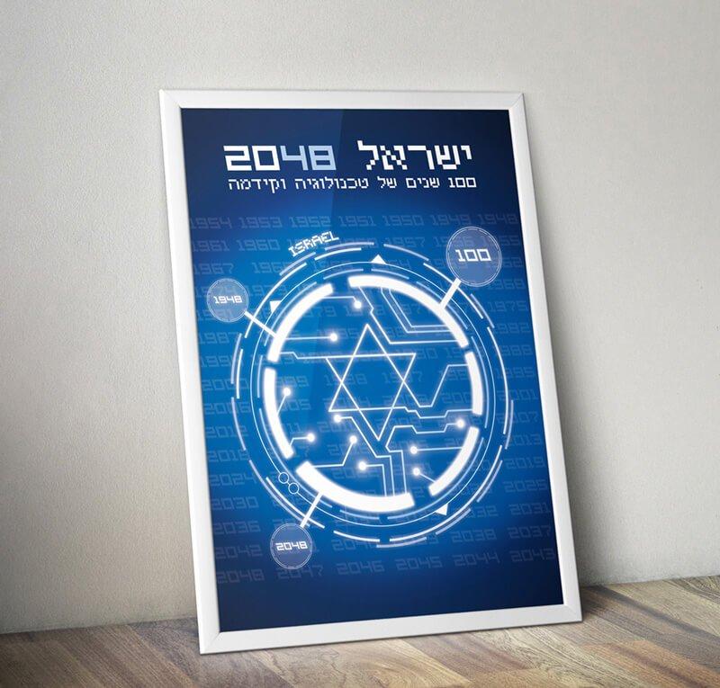 עיצוב פוסטר במסגרת תחרות עיצוב - ישראל 100
