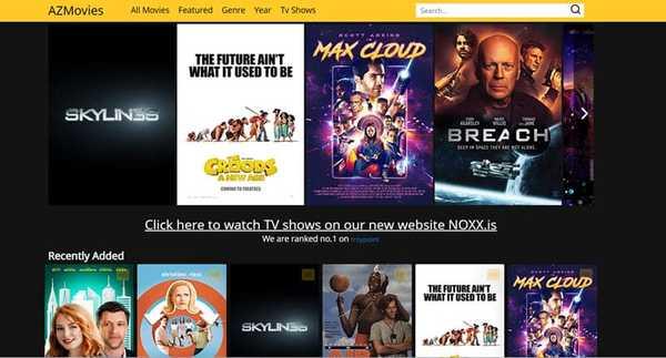 AZMovies free movie streaming site