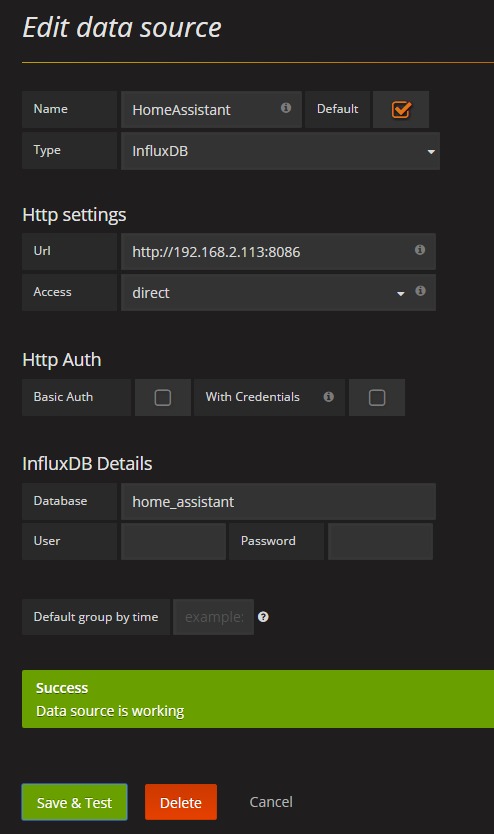 Install Influxdb & Grafana on Synology NAS in Docker – Chrigi's Projects