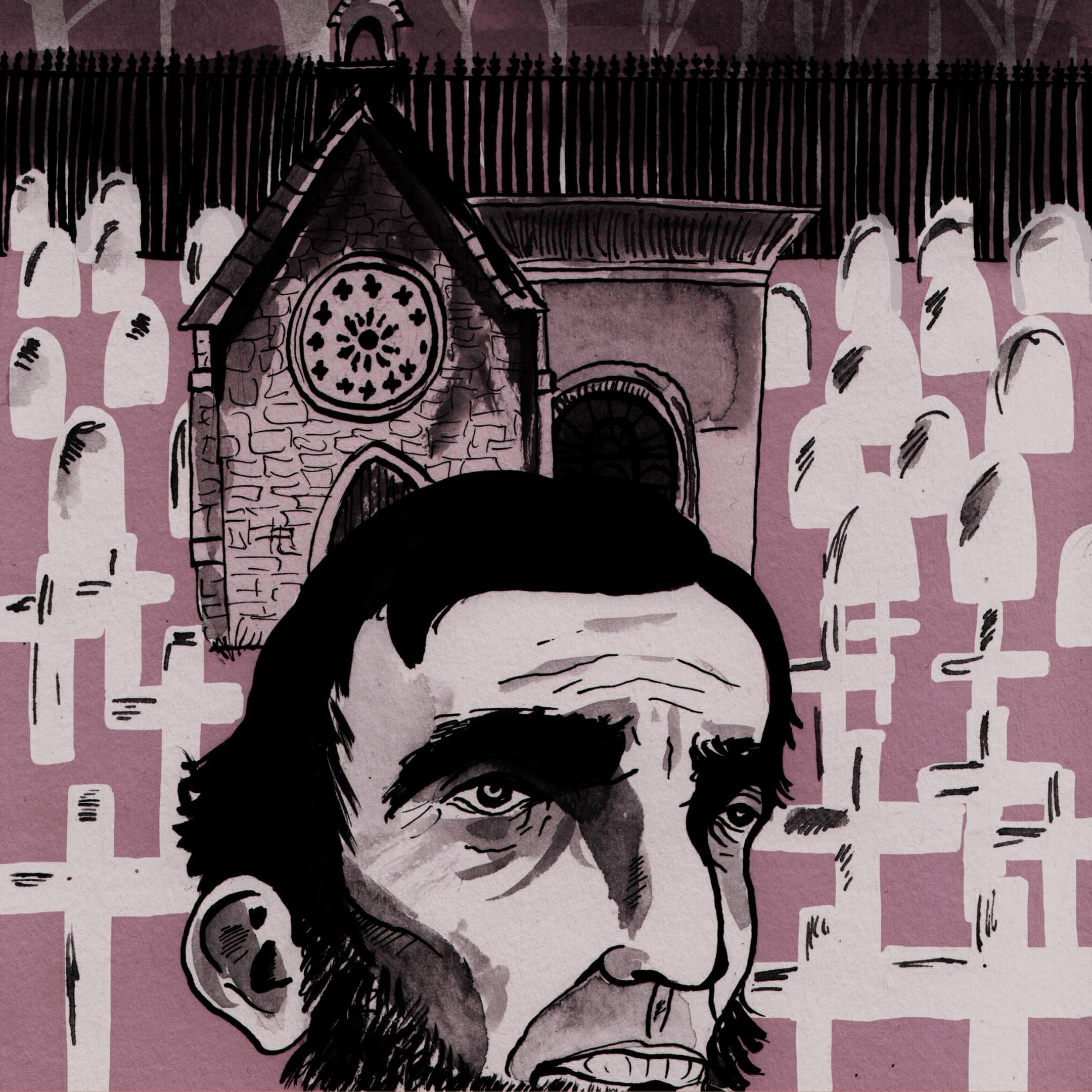 Иллюстрации Ella Strickland deSouza кроману Джорджа Сондерса «Линкольн в бардо». Источник: cargocollective.com
