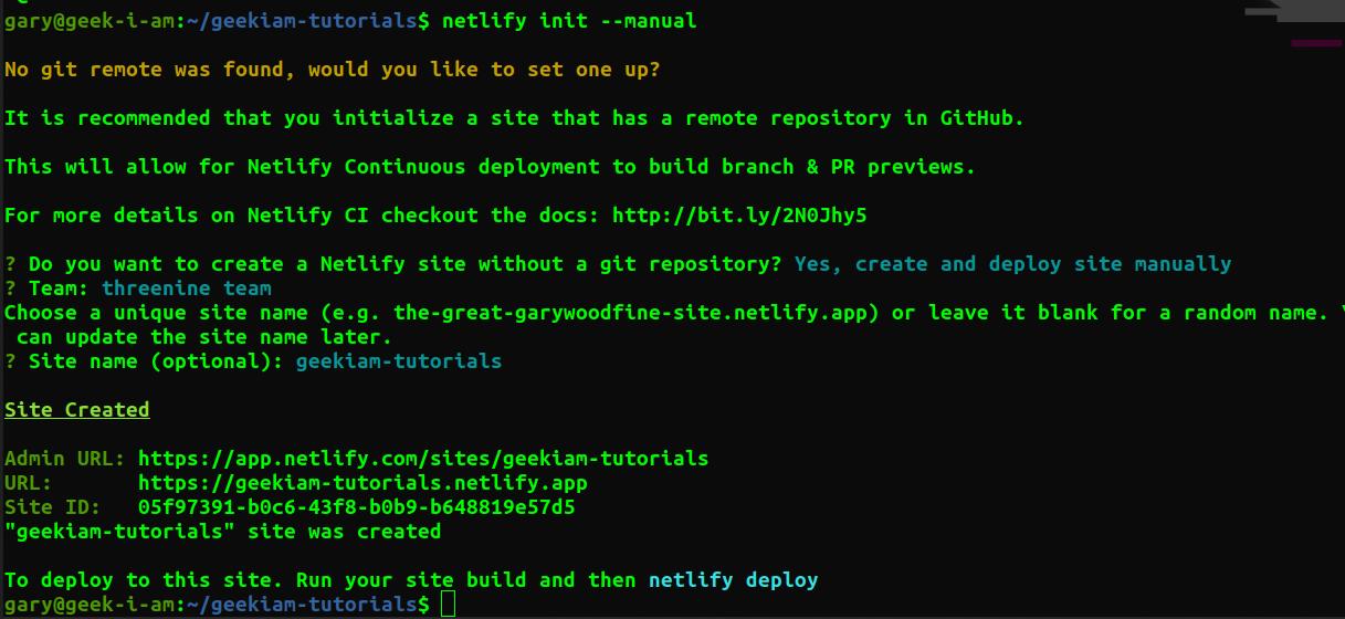 netlify deploy