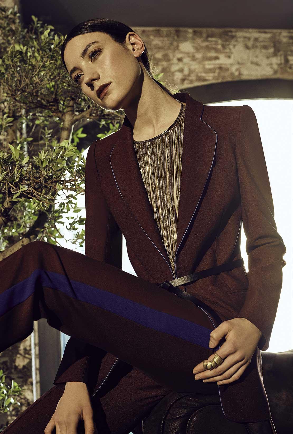 HEBE STUDIO - silk suit Girlfriend