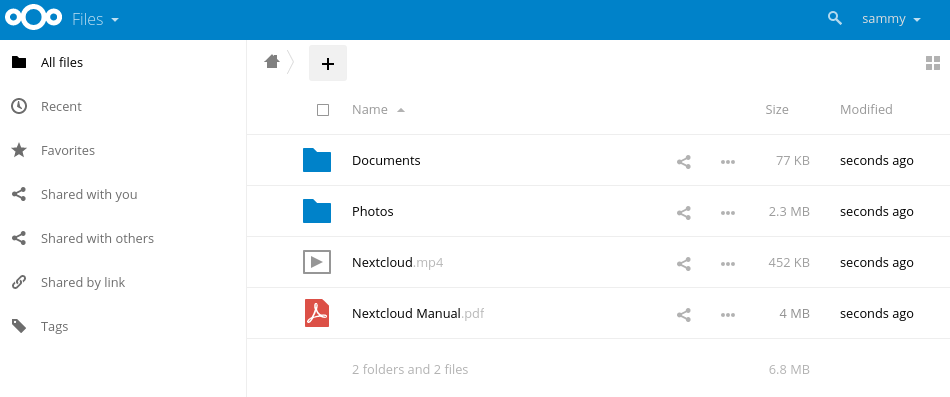 NextCloud Screenshot