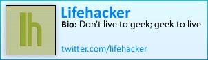 Lifehacker on Twitter