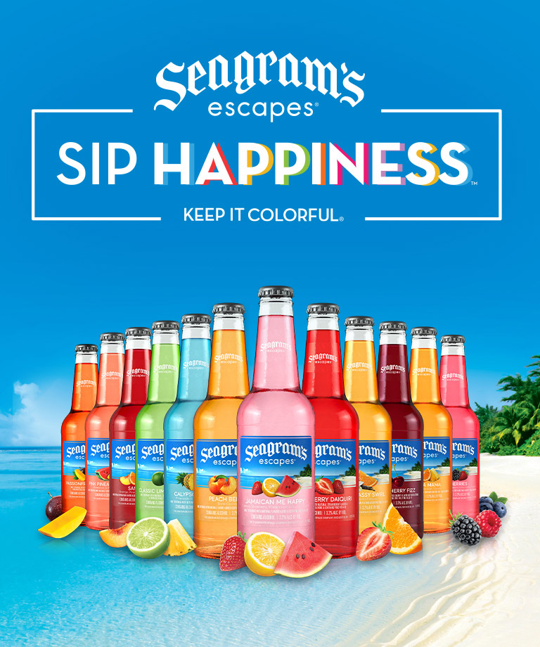 Sip Happiness with Seagram's Escapes - Keep it colorful!
