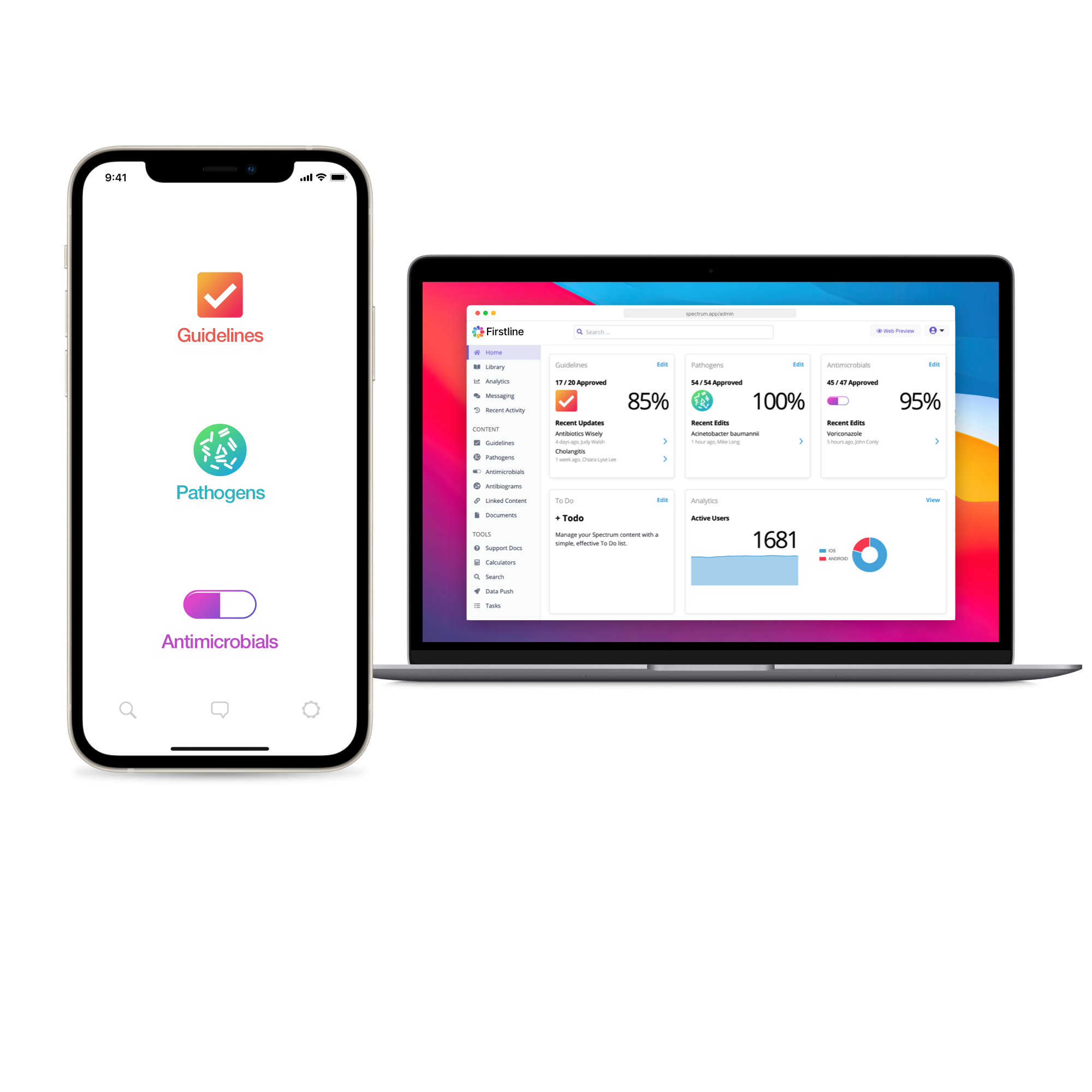 Firstline app screens
