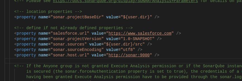 CodeScan Proxy antbuild.properties