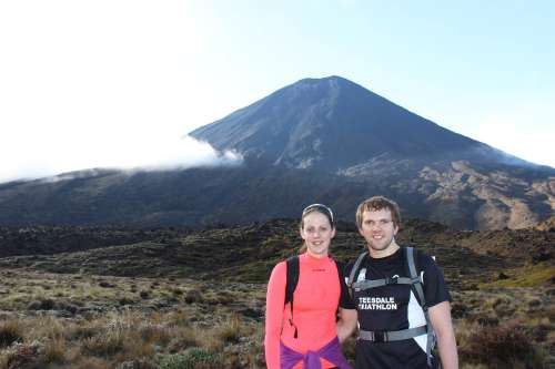 At the start of the Tongariro Crossing