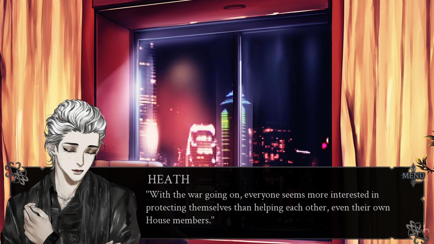 Heath talking about vampire war