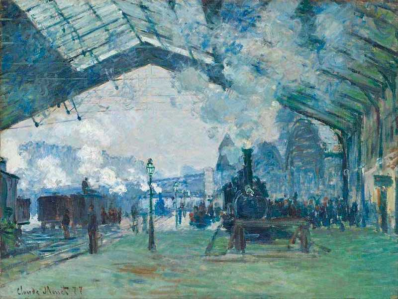 The Arrival of the Normandy Train at Gare Saint Lazare