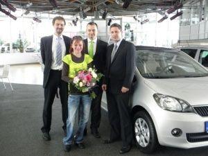 Poděkování za financování automobilu pro Petru