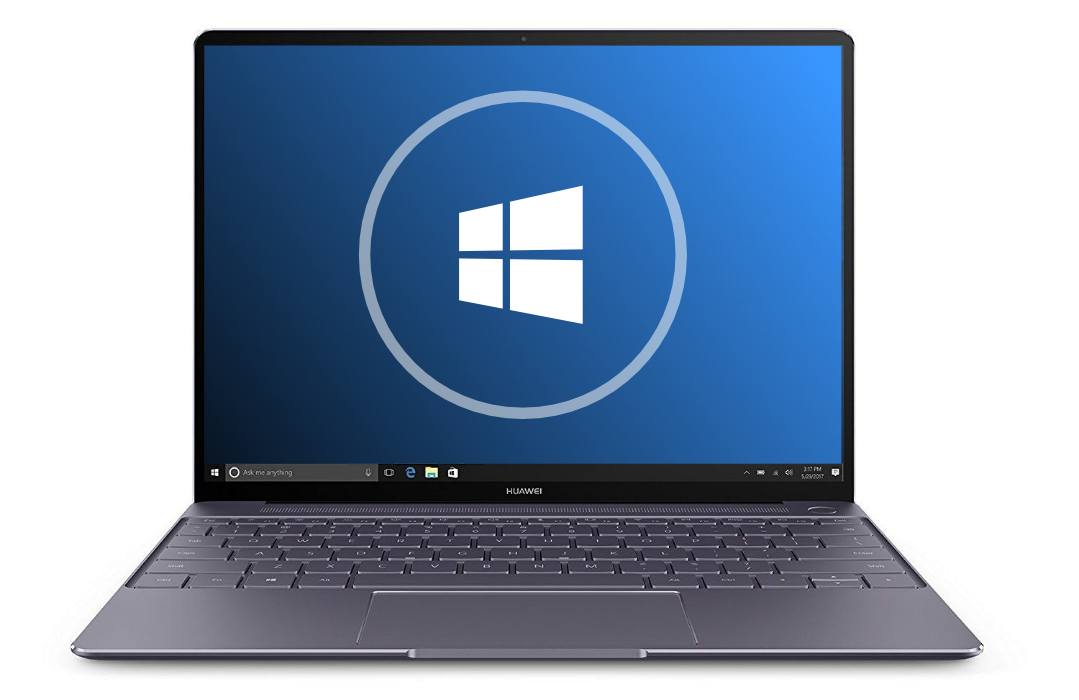 laptop with Windows logo
