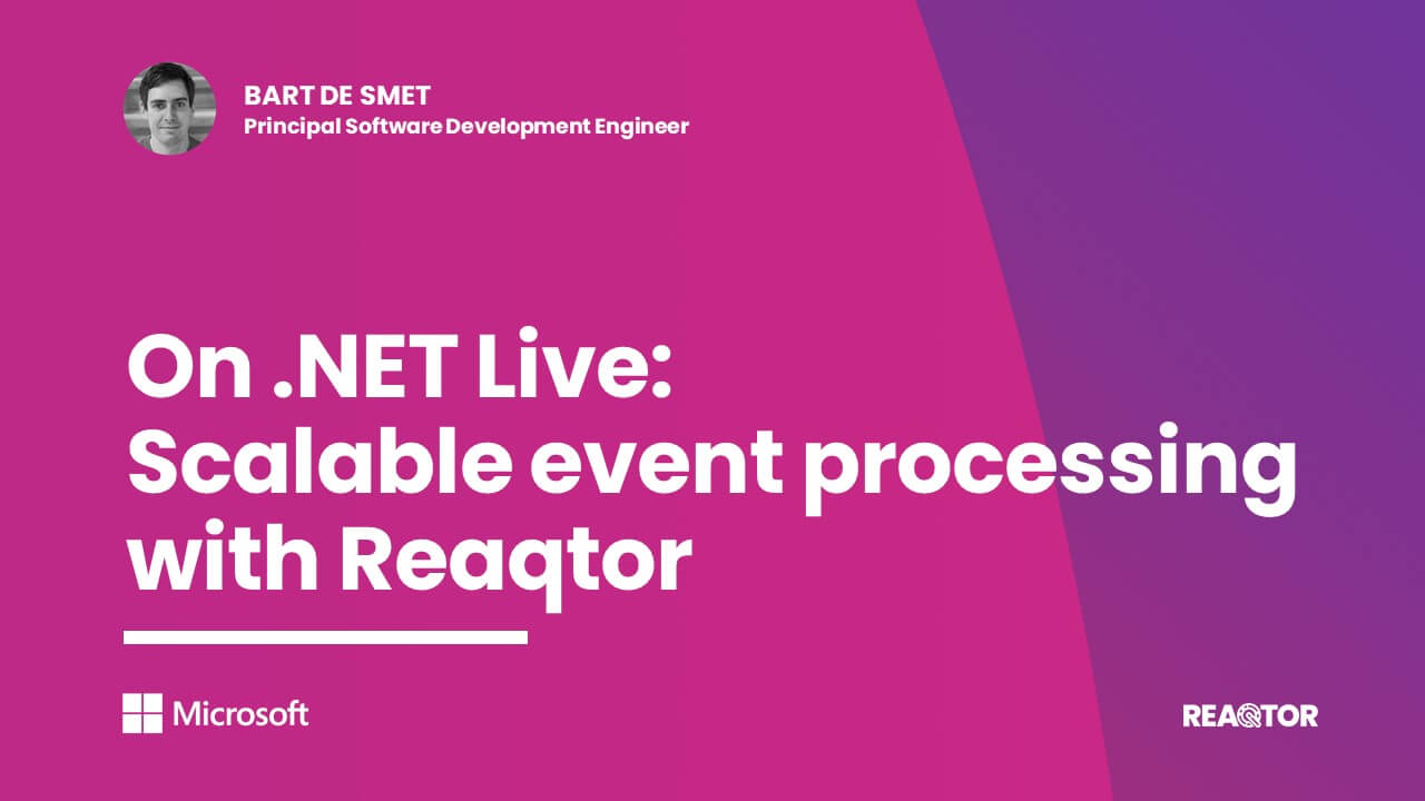 On .NET Live - Scalable event processing with Reaqtor