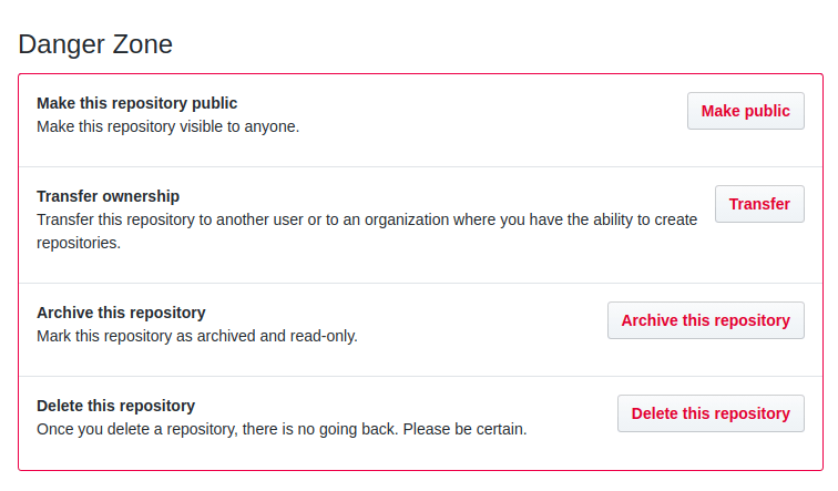 Updating a private repository to be public