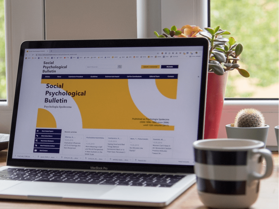 Website design for Social Pshycological Bulletin - Featured image