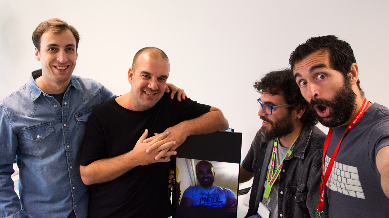 Pablo, Adri, Rodri, Francho and Rafa: the Spines product team.