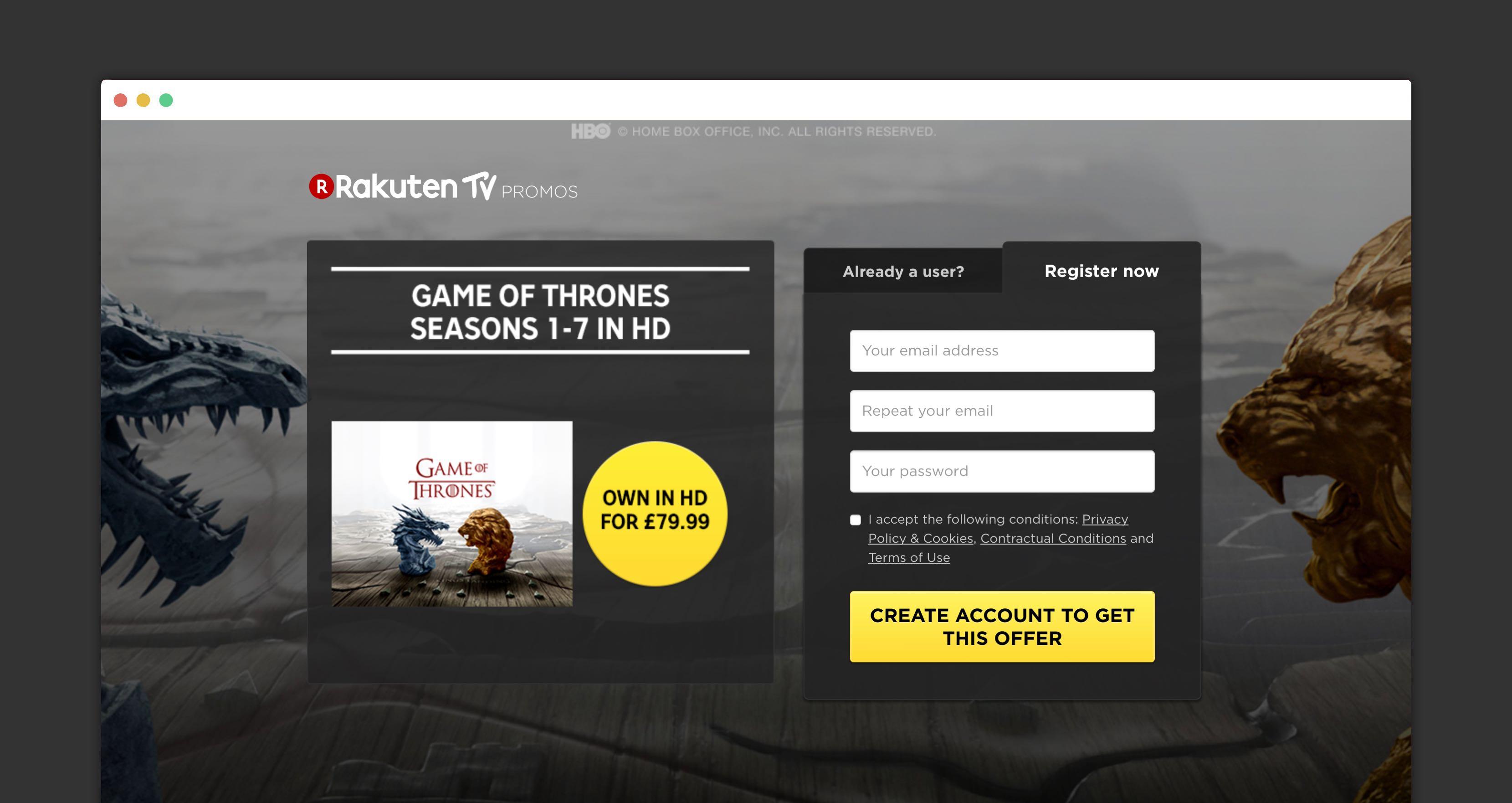 Rakuten campaigns app