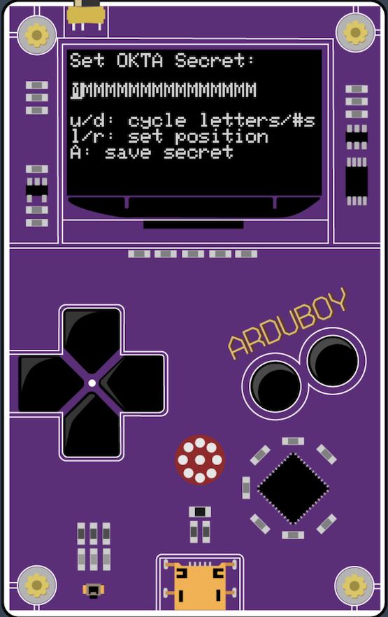 Secret setting screen