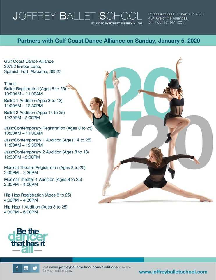 Joffrey Ballet School 2020 Summer Audition Tour