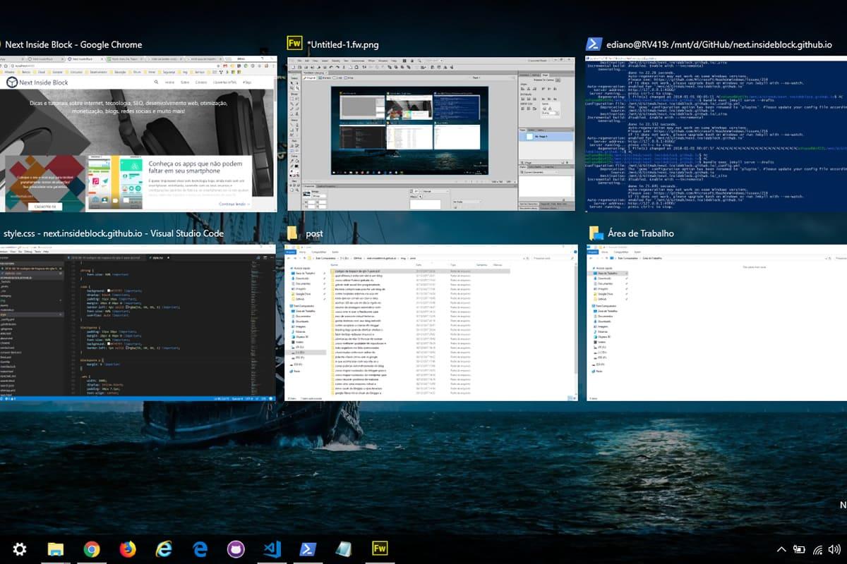Criar e gerenciar área de trabalho no Windows 10